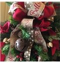 Christmas Upside down Christmas Tree decoration 90cm Scotland Style with Ring