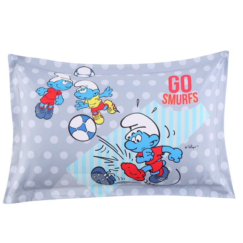 Soccer Smurfs and Polka Dot One Piece Bed Pillowcase