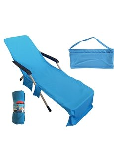 Lounge Chair Cover Microfiber Pool with Pockets Holidays Sunbathing Quick Drying Terry Towels
