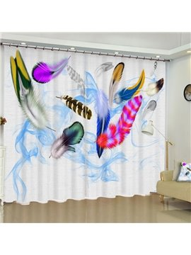 3D Creative Features Printed Modern Style 2 Panels Living Room Blackout Curtain
