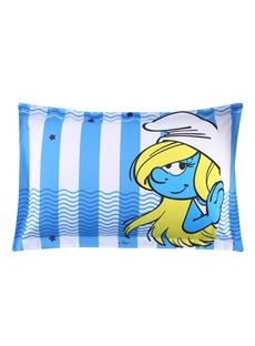 Smurfette Waves and Stripes Nautical Style One Piece Bed Pillowcase