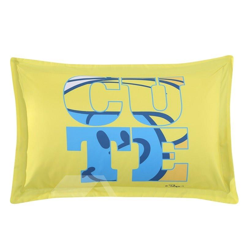 Brainy Smurf Big Blue World One Piece Bed Pillowcase