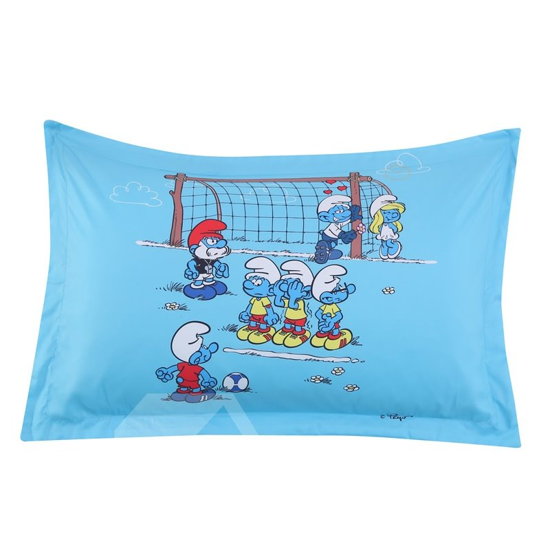 The Smurf Soccer Competition One Piece Bed Pillowcase