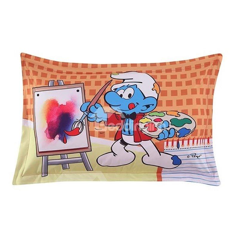 Painter Smurf the Smurfs Village Artist One Piece Bed Pillowcase