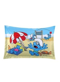 The Smurfs on the Beach Printed One Piece Bed Pillowcase