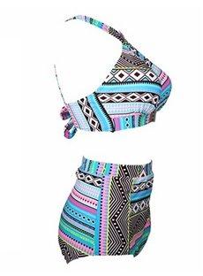 2 Piece Women Push up Padded Bikini High Waist Plus Size Swimsuit
