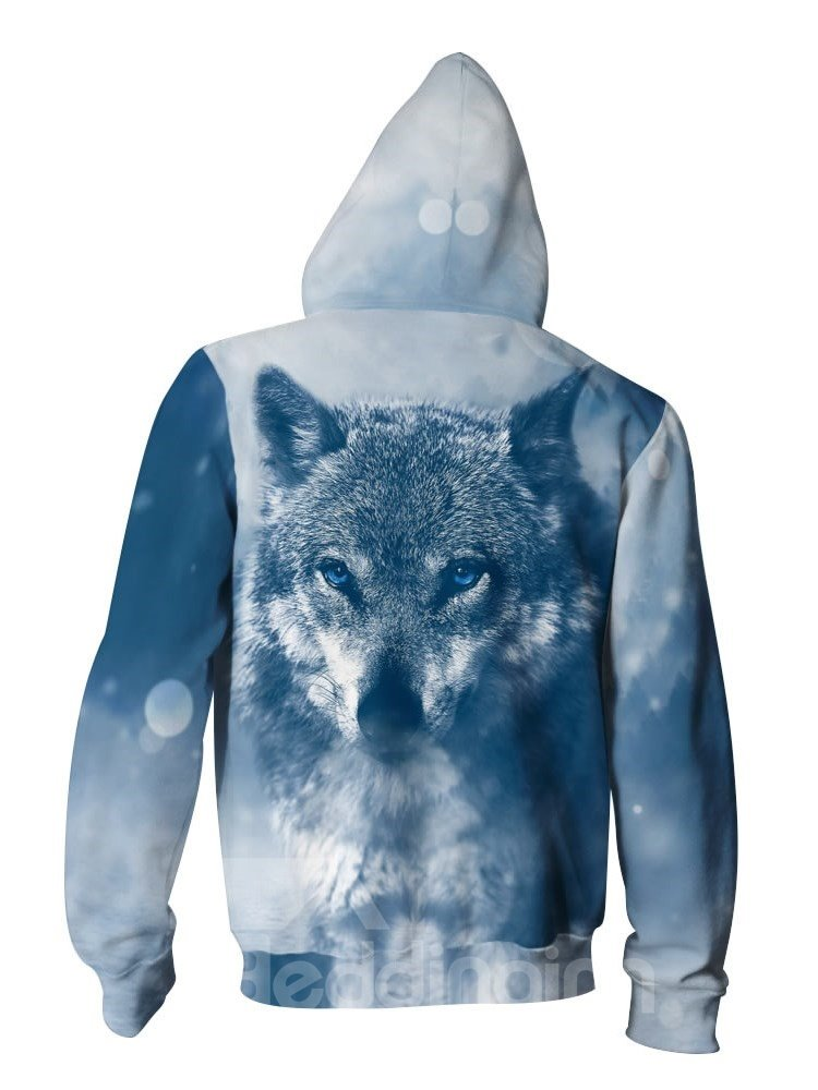 3D Wolf Winter Pattern Men Sweater Long Sleeve Cool Hoodies