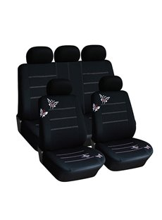 Exquisite Authentic Butterfly Pattern Durable Cloth Universal Car Seat Covers