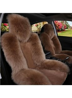 Handmade Extravagant Color Brilliancy Warm Plush Single-seat Universal Car Seat Covers