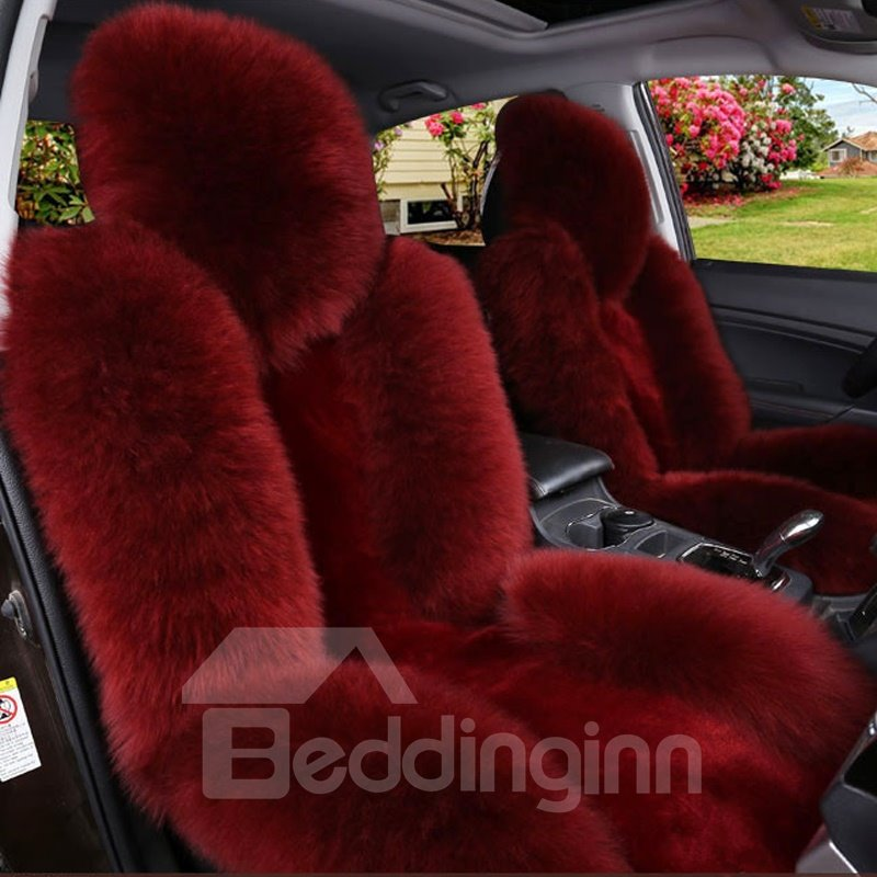 Handmade Extravagant Color Brilliancy Warm Plush Single-seat Universal Car Seat Cover