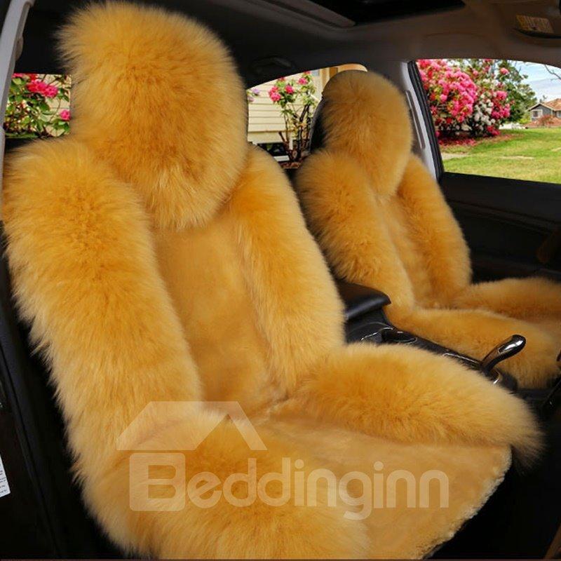 Handmade Extravagant Color Brilliancy Warm Plush Single-seat Universal Car Seat Cover