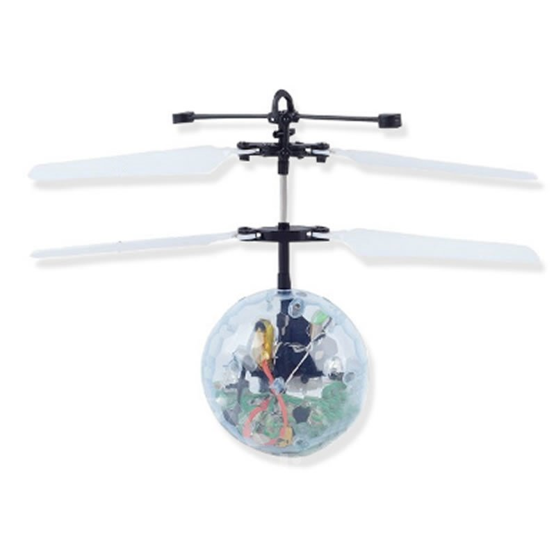 RC Flying Ball Infrared Induction Mini Aircraft Flashing Shining LED Lighting for Kids