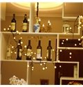 Simple Black Rattans and White Balls Christmas Home Decorations Led Night Lights