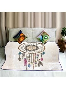 A Dream Catcher Pattern Super Soft Flannel Bed Blankets