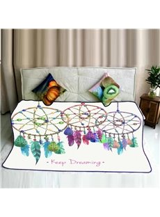Hanging Dreamcatcher Pattern Flannel Super Soft Bed Blankets