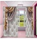 3D Imitated Elegant Shading Cloth Printed Custom Curtain for Living Room