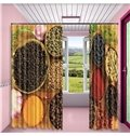 3D Cereals Printed 2 Panels Custom Living Room and Bedroom Custom Curtain