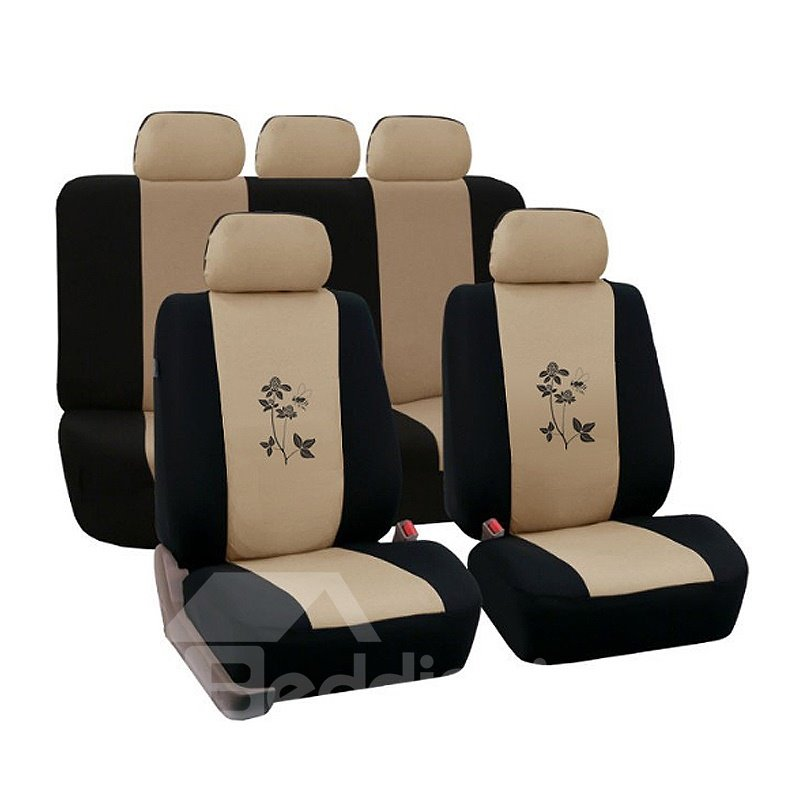 Environment-friendly Washable Durable Flower Pattern Cloth Universal Car Seat Covers