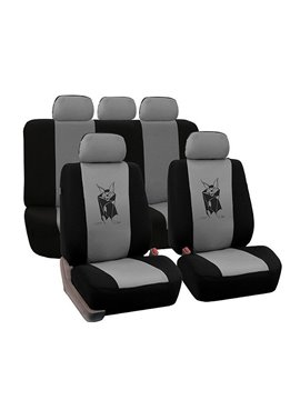 Environment-friendly Washable Durable Devil Bat Pattern Cloth Universal Car Seat Covers