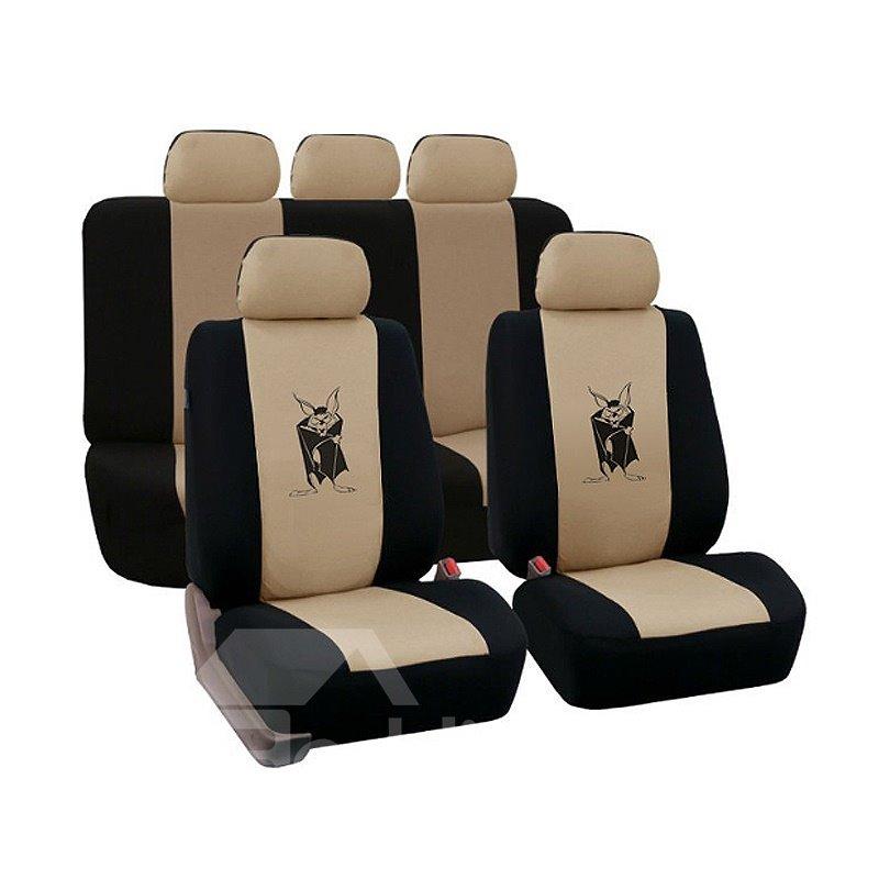 Environment-friendly Washable Durable Devil Bat Pattern Cloth Universal Car Seat Covers