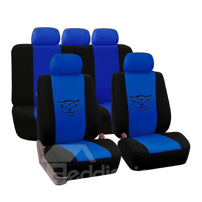 Environment-friendly Washable Durable Lovely Dog Pattern Cloth Universal Car Seat Covers