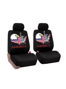 Firm Durable Washable Statue of Liberty Pattern Front seats Cloth Universal Car Seat Covers