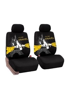 Firm Durable Washable Tower Pattern Front seats Cloth Universal Car Seat Covers