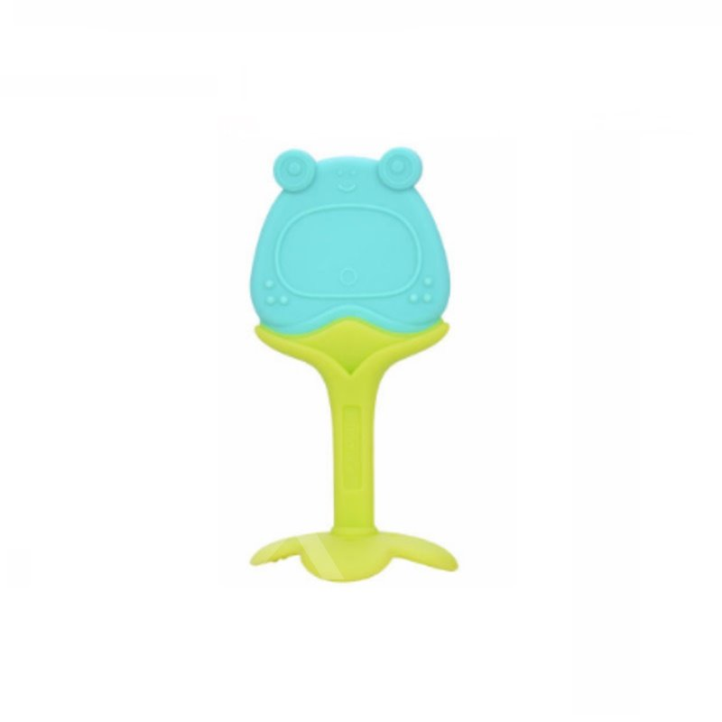 Silicone Blue Frog Shaped Soothing Baby Teething Toy