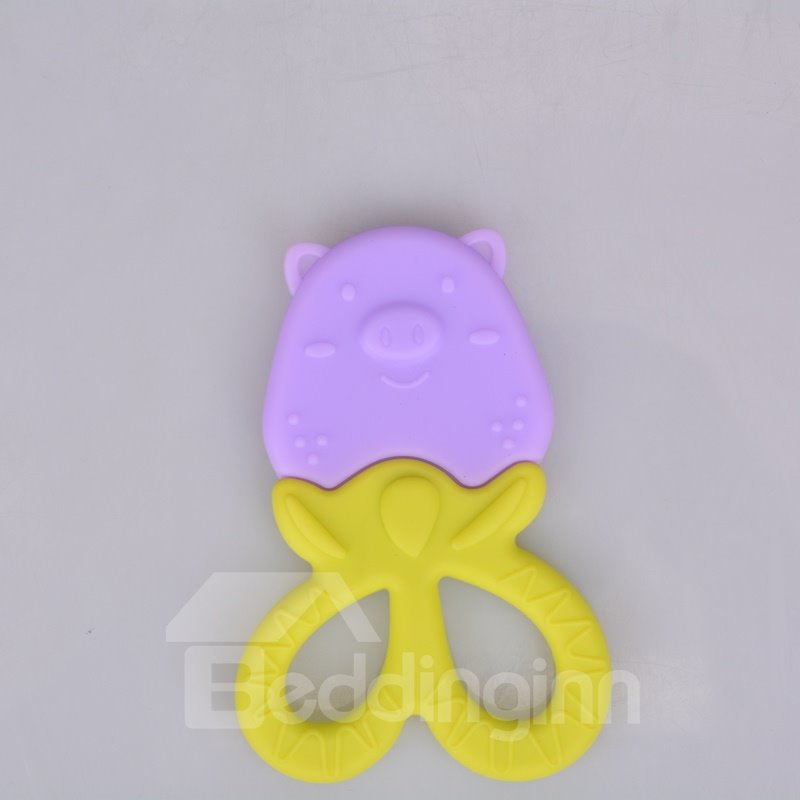 Silicone Pig Shaped Soothing Baby Teething Toy