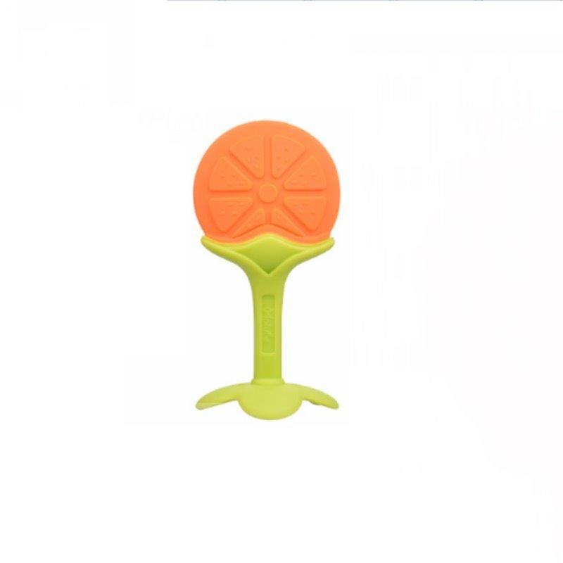 Silicone Orange Shaped Soothing Baby Teething Toy