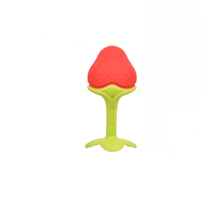 Silicone Strawberry Shaped Soothing Baby Teething Toy