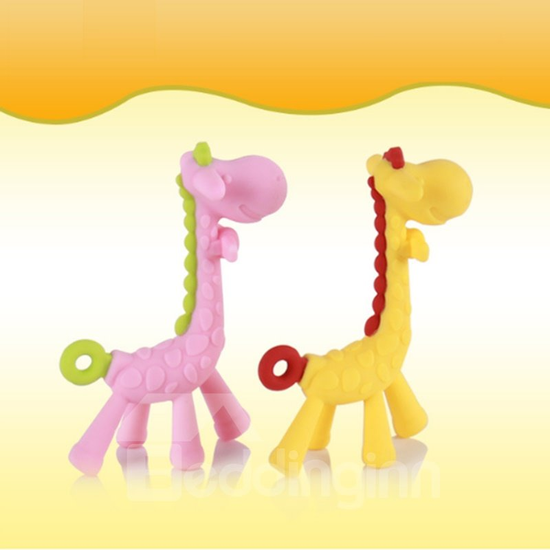 Silicone Giraffe Shaped Soothing Baby Teething Toy