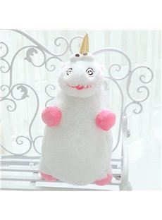 Unicorn Shaped White Cotton Throw Pillow/Plush Toy