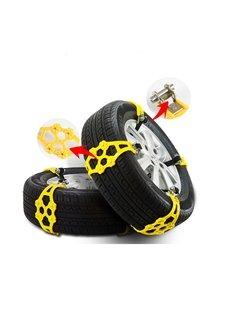 8 PCS Snow Tire Cables Emergency Car Chains