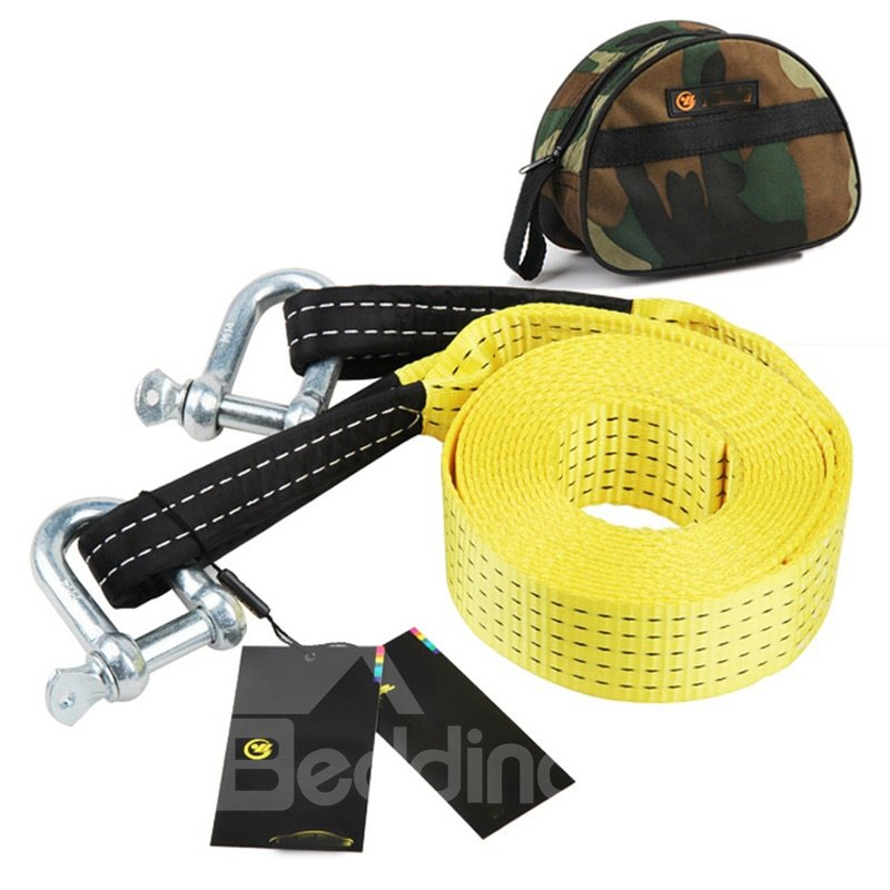 5 meters 5 tons Nylon Tow Strap Yellow Towing Rope