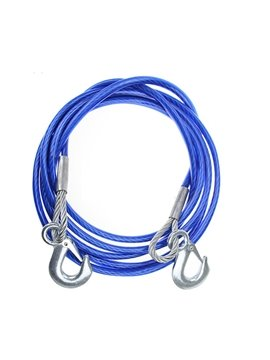 4 meters 7 tons Tow Strap Blue Towing Rope with 2 Safety Hooks Emergency