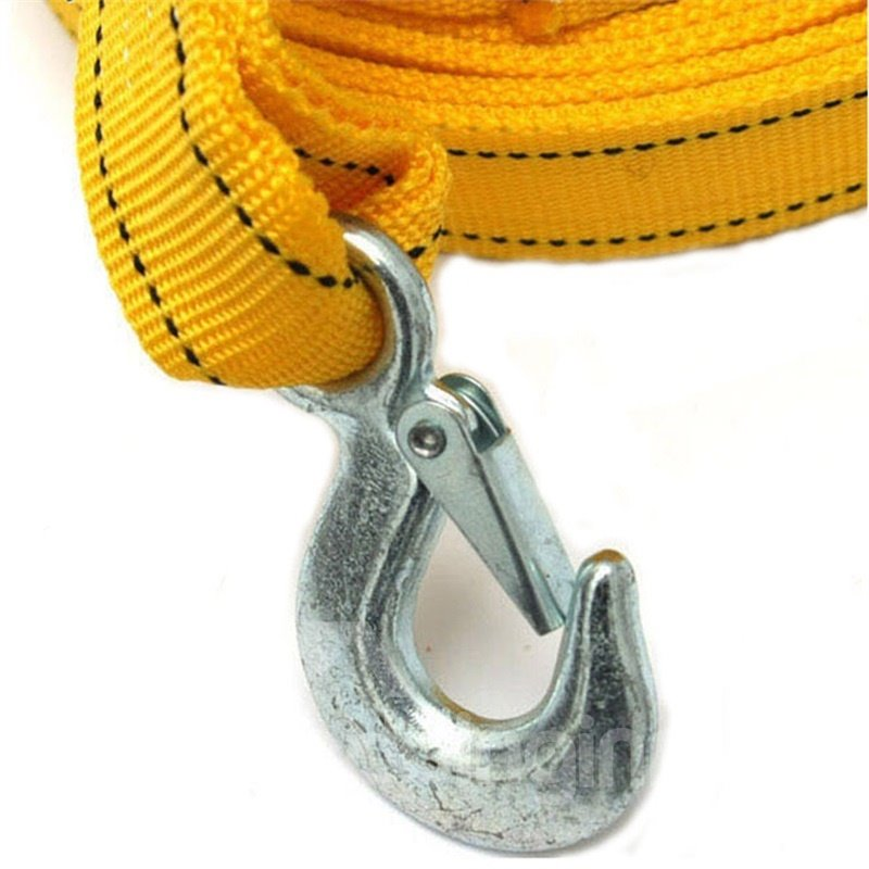 4 meters 3 tons Nylon Tow Strap Yellow Towing Rope