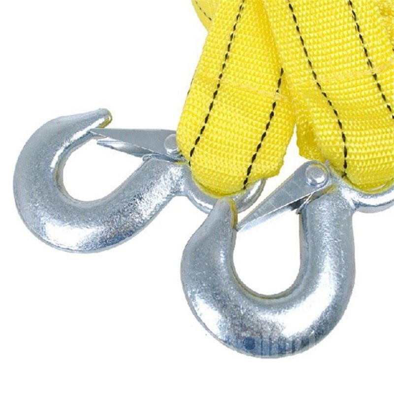 3.86 meters 5 tons Nylon Tow Strap Yellow Towing Rope