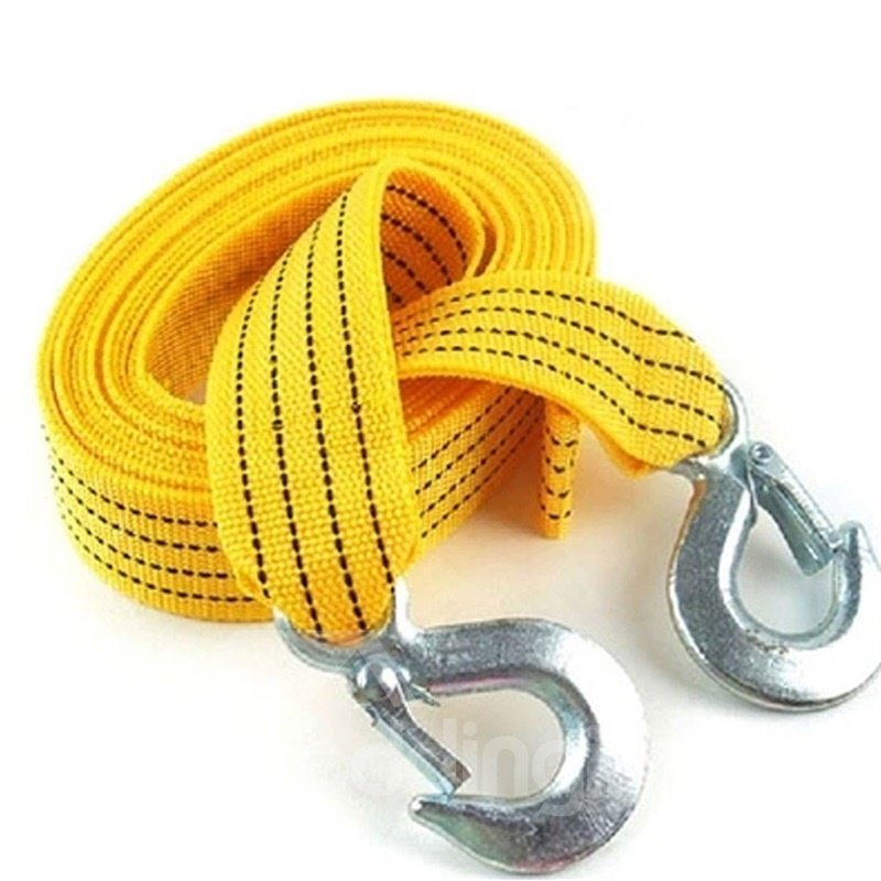 3 meters 3 tons Nylon Tow Strap Yellow Towing Rope