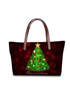 Christmas Tree Waterproof 3D Printed Shoulder Handbag
