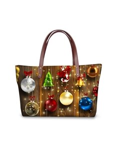Christmas Tree Decor Waterproof 3D Printed Shoulder Handbag