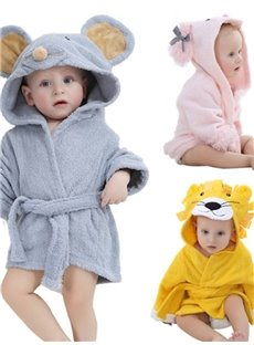 Animal Shaped Cotton Multi-Color Baby Bath Robe