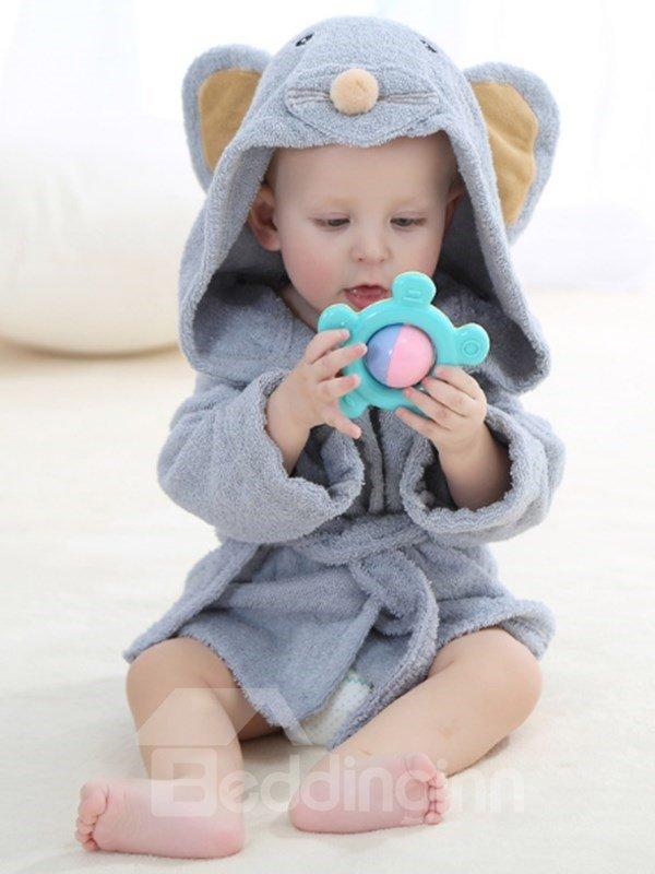 Animal Shaped Cotton Multi-Color Baby Bath Robe