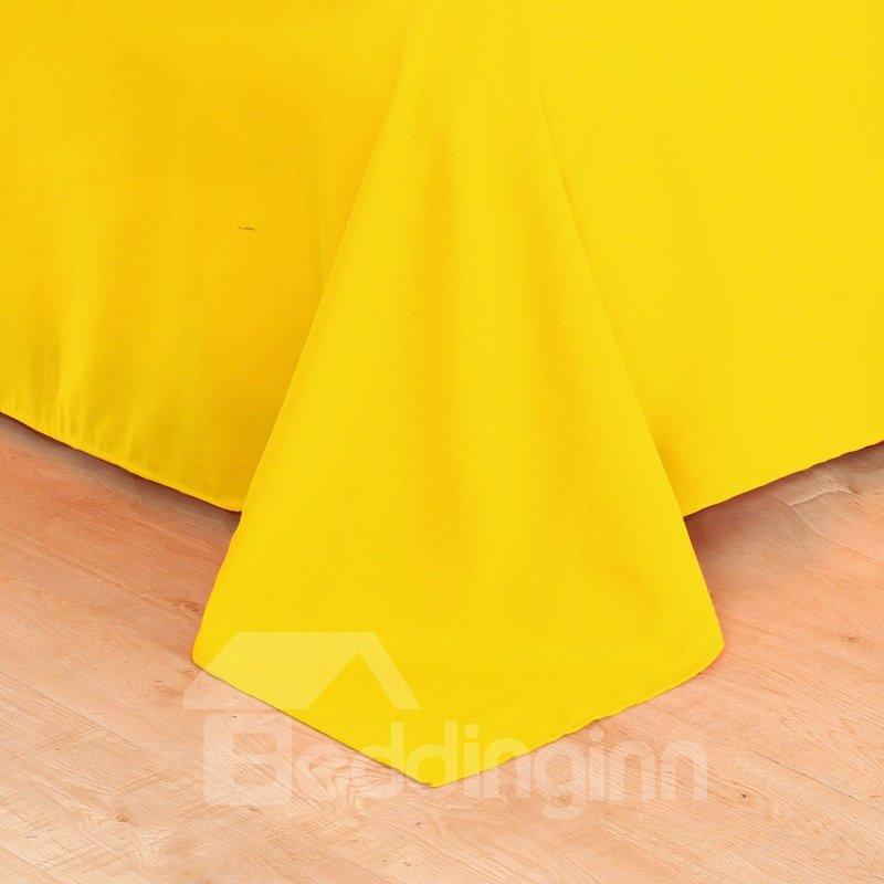 Vivilinen 3D Yellow Sunflower Printed 5-Piece Comforter Sets