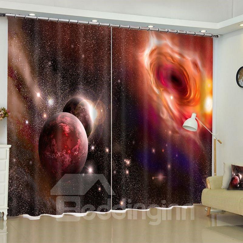 Beddinginn Universe Printed Custom Polyester Living Room Blackout D Curtain Vast