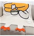 Duck Shaped Polyester Nordic Style White Baby Blanket