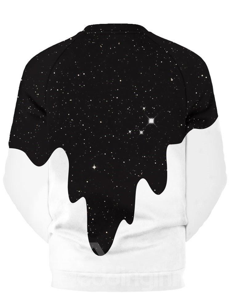 Fashion Pattern Milk Pour Pattern 3D Painted Hoodie