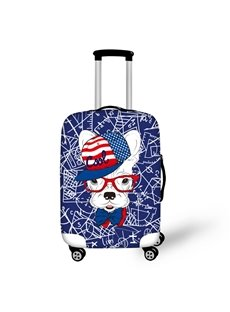 Cool French Dog Waterproof Luggage Suitcase Protector for 19 20 21