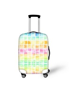 Rainbow Colorful Square Lattice Waterproof Luggage Suitcase Protector for 19 20 21