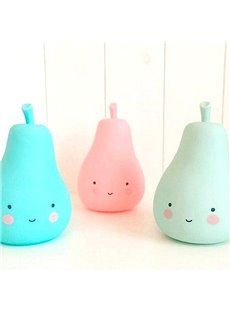 Pear Shaped Plastic Multi-Color Kids Room Night Light